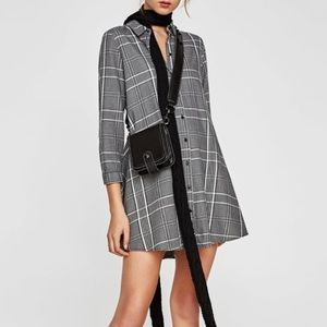 Zara plaid button down tunic